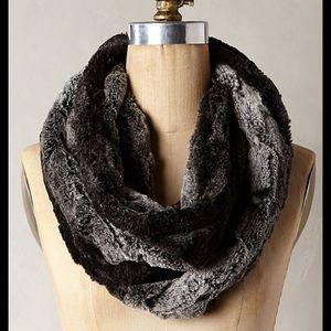 Anthropologie Broglie faux fur cowl Infinity scarf